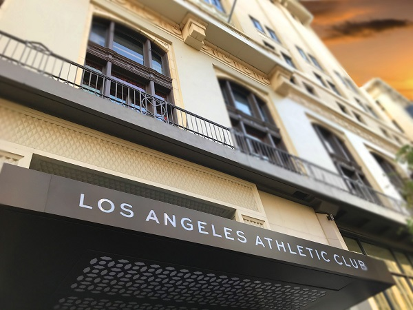 CC Surface Restoration working at the Los Angeles Athletic Club